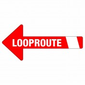 Looproute pijl | links